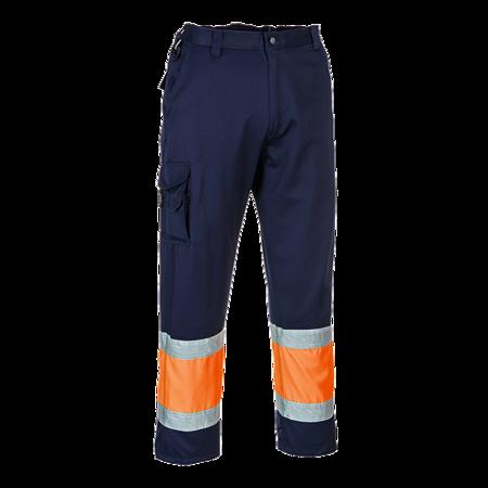 Spodnie bojówki ostrzegawcze dwukolorowe