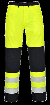 Spodnie ostrzegawcze trudnopalne Multi-Norm