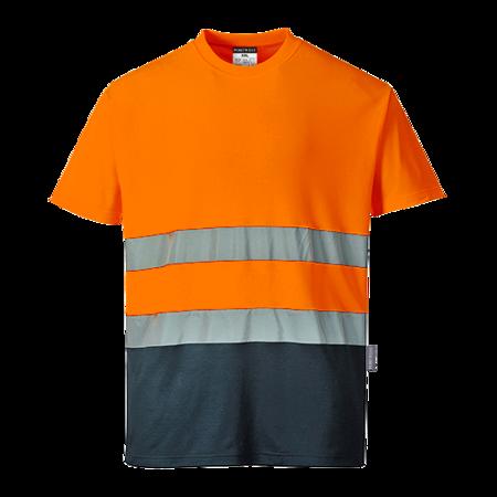 T-shirt dwukolorowy ostrzegawczy Cotton Comfort