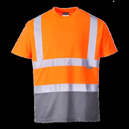 T-shirt ostrzegawczy dwukolorowy